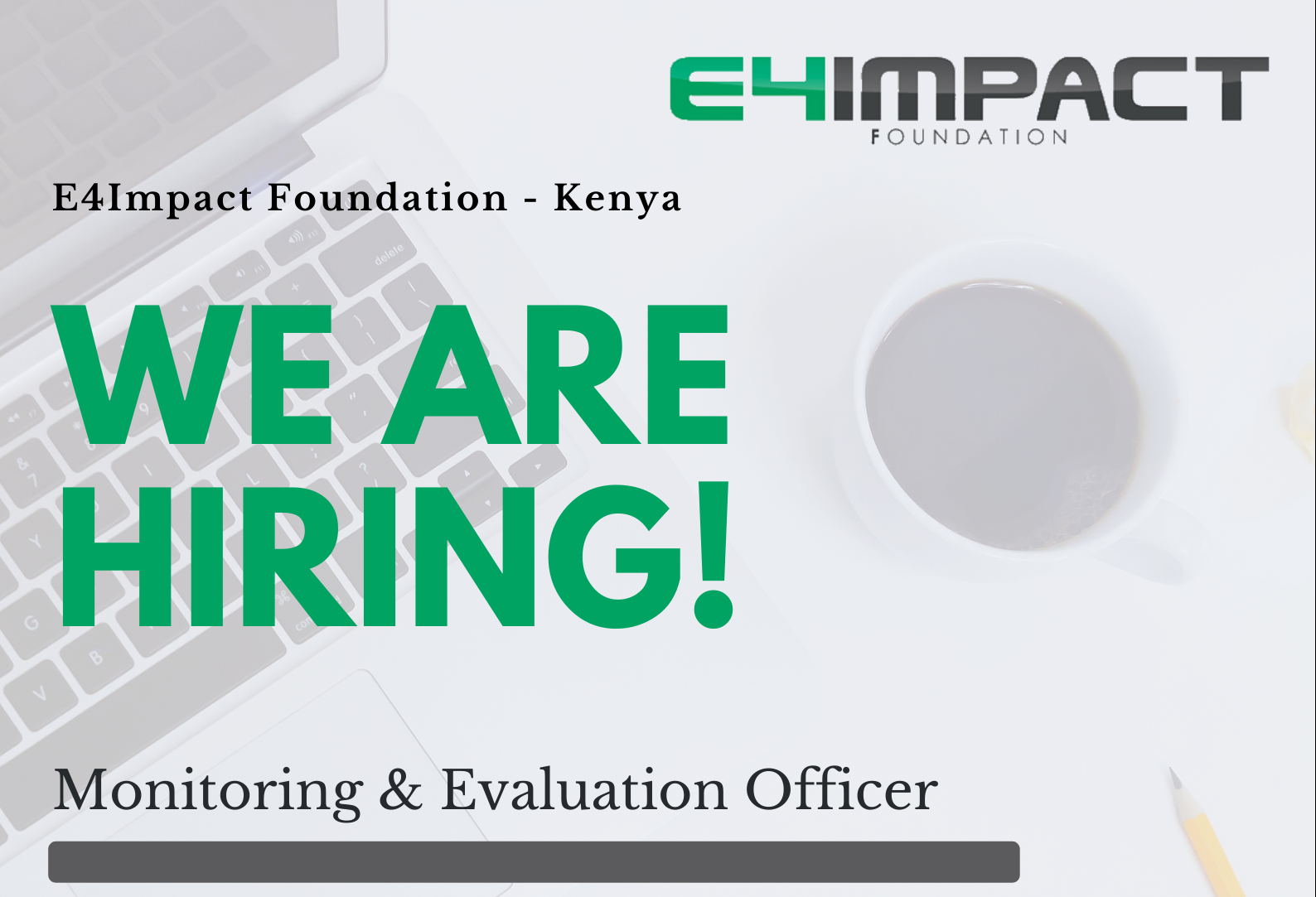Hiring: Monitoring and Evaluation Officer